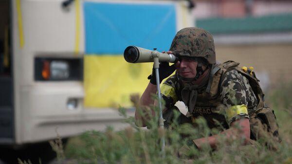 Боец батальона Донбасс. Архивное фото.
