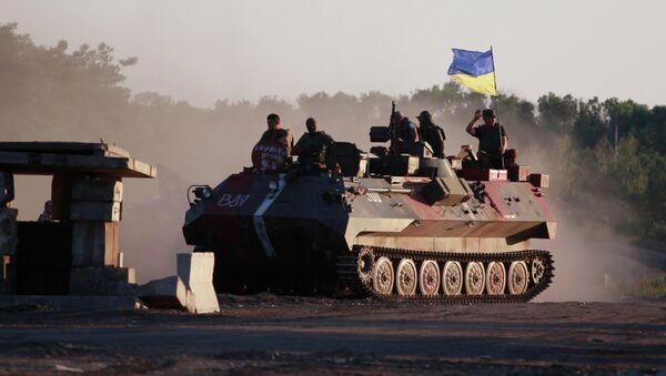 Украинские военные в Луганске. Архивное фото