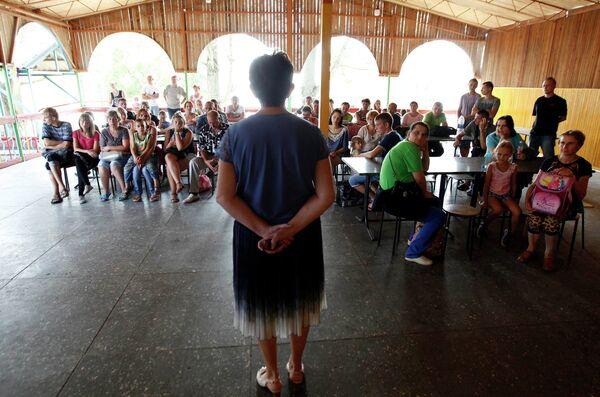 Беженцы из Украины в детском лагере в поселке Отказное Ставропольского края