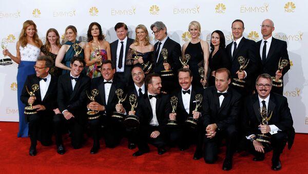 Создатели и актеры сериала Во все тяжкие на церемонии вручения премии Эмми