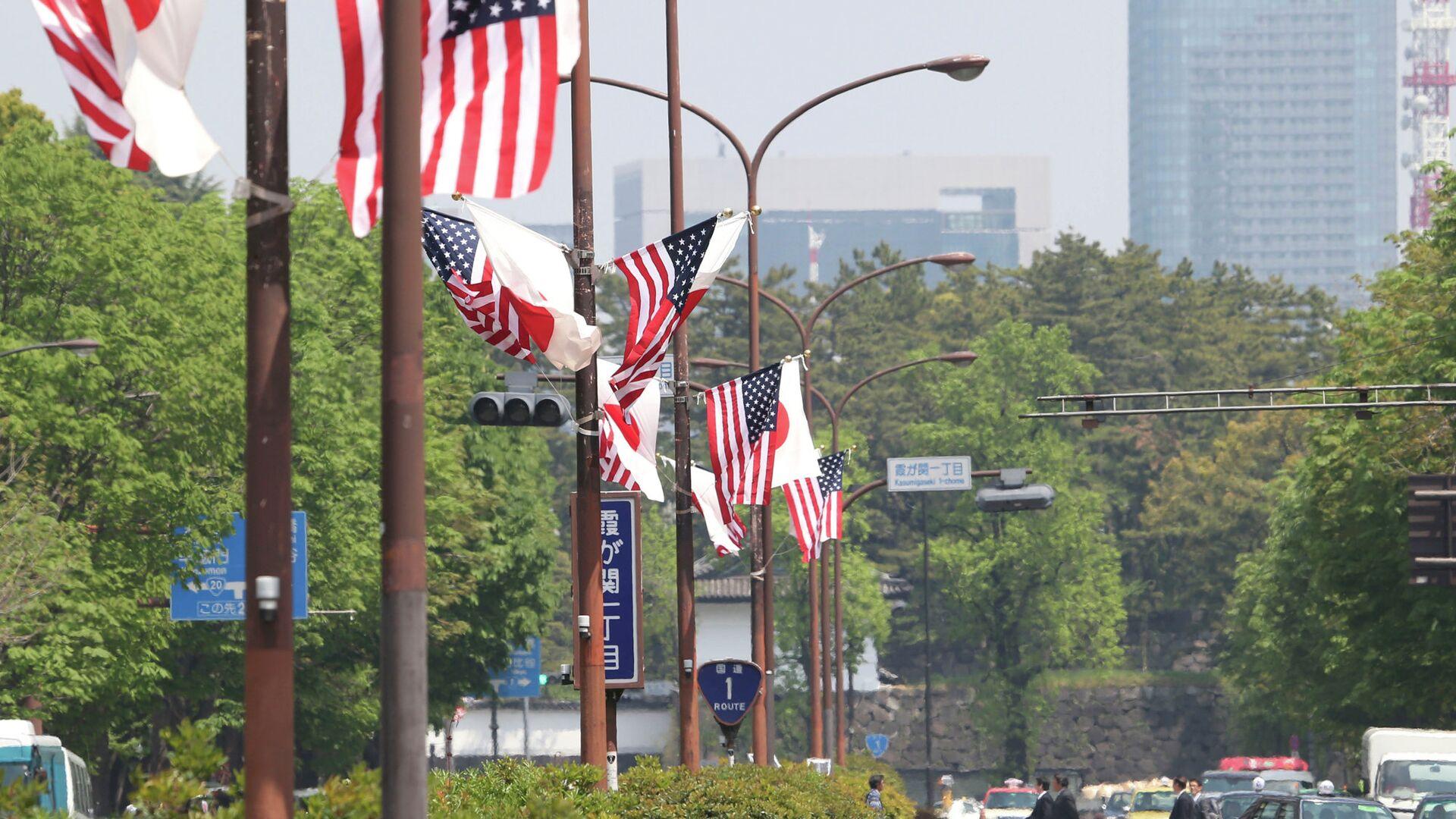 Флаги США и Японии в Токио. Архивное фото - РИА Новости, 1920, 21.03.2021