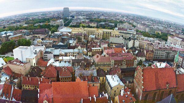 Вид на город Рига, Латвия. Архивное фото