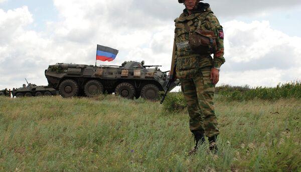 Ополченец ДНР под Донецком. Архивное фото
