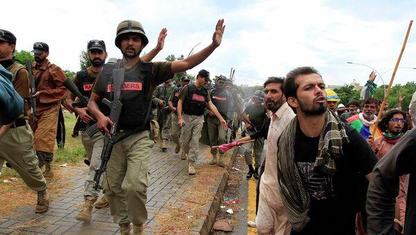 Протесты в Исламабаде