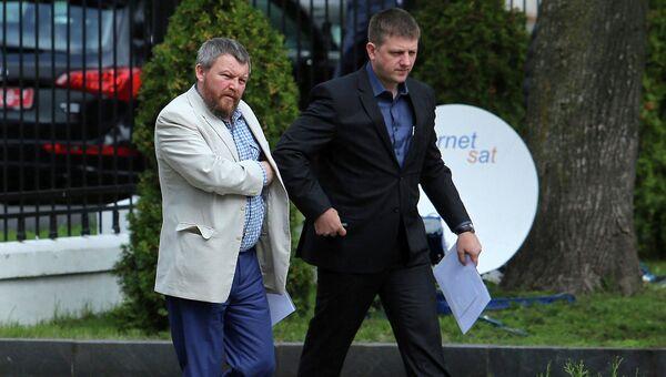 Представители ополчения на переговорах в Минске