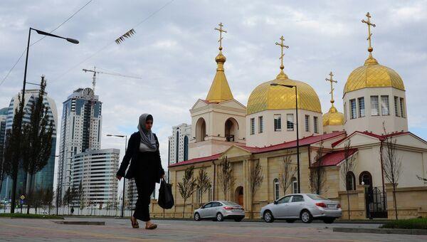 Православная церковь Архангела Михаила на проспекте имени Ахмата Кадырова в Грозном