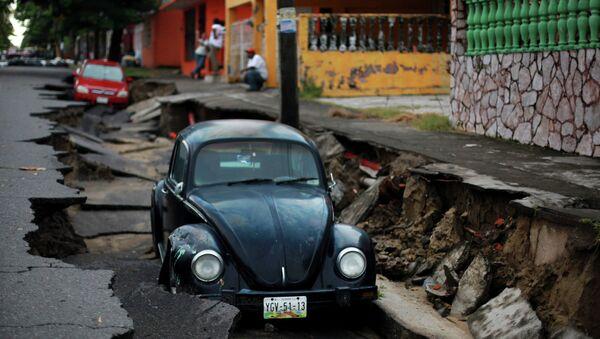 Последствия проливных дождей в Мексике. Архивное фото