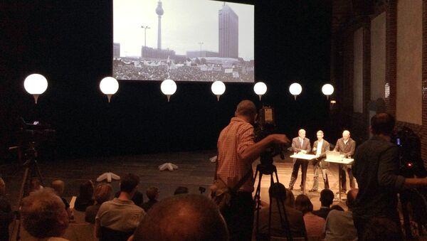 Пресс-конференция по вопросу Берлинской стены