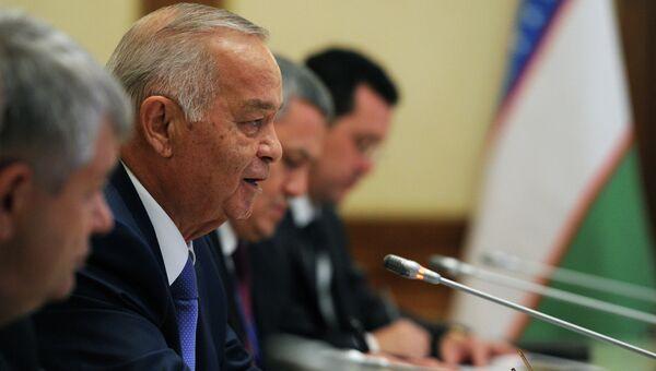 Президент Узбекистана Ислам Каримов принимает участие в саммите ШОС