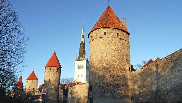 Вид на старый Таллин, Эстония