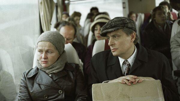 Наталья Гундарева и Олег Басилашвили на съемках фильма Осенний марафон