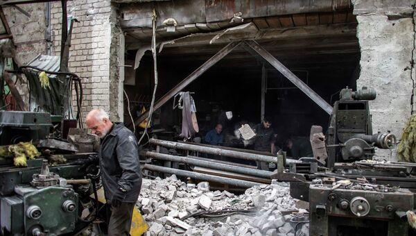 Последствия обстрела Донецка. 16 сентября 2014