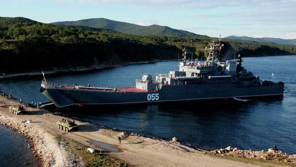 Большой десантный корабль Адмирал Невельской. Архивное фото