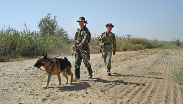 Пограничники на границе с Афганистаном. Архивное фото