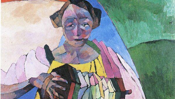 А.Лентулов. Женщина с гармоникой. 1913