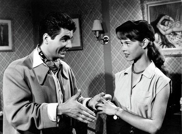 Брижит Бардо на съемках фильма Нормандская дыра, 1952 год