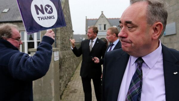 Первый министр Шотландии Алекс Салмонд, архивное фото
