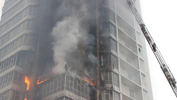 Пожар в жилом доме в Красноярске. Архивное фото