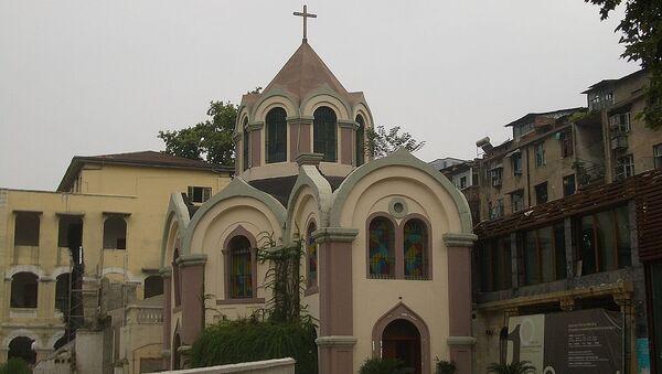 Александро-Невский православный храм в городе Ухань, Китай