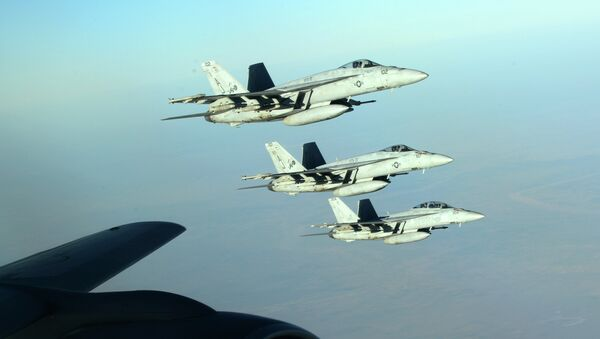 Самолеты ВВС США в небе над Ираком. Архивное фото