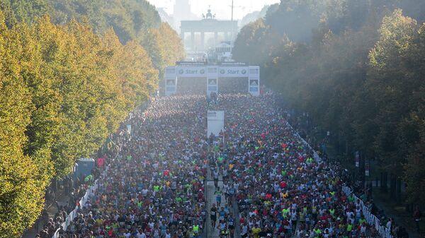 Старт Берлинского марафона 2014