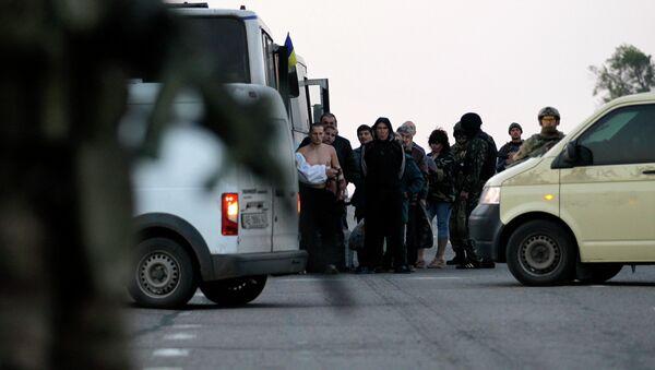 Обмен военнопленными в Донецке. Архивное фото