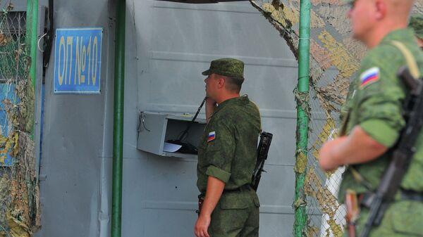 Блокпост российских миротворцев на въезде в город Бендеры. Архивное фото