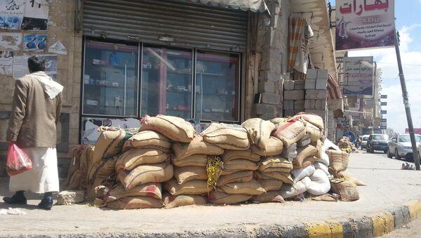 Ситуация на улицах Саны после того, как сторонники Аль-хуси начали покидать столицу, Йемен. Архивное фото