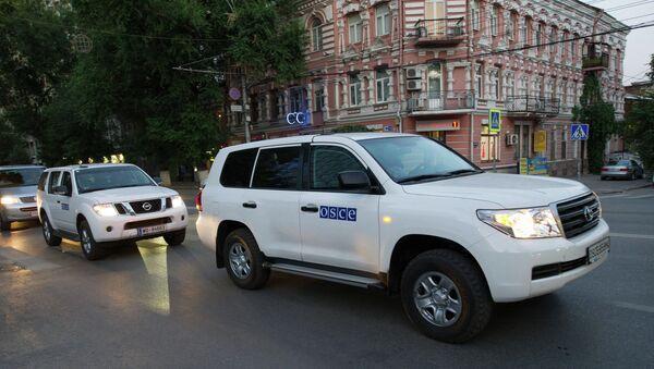 Сотрудники миссии ОБСЕ. Архивное фото