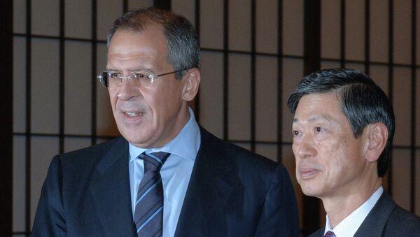 Сергей Лавров и Масахико Комура. Архивное фото