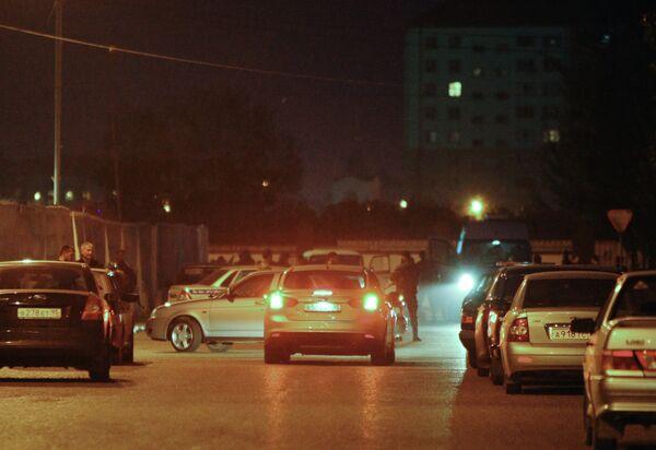 Оцепление вокруг района теракта в центре Грозного