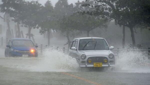 Последствия тайфуна Вонгфонг в Японии