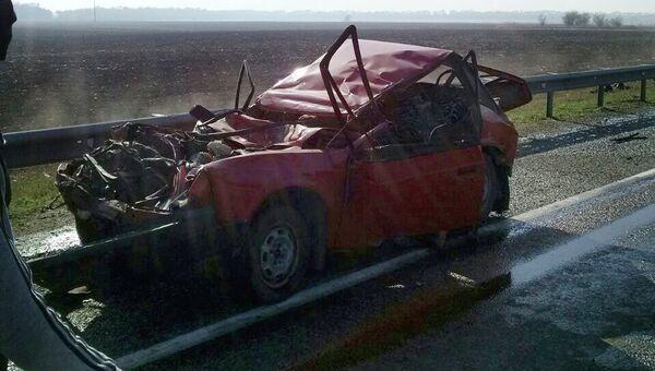 Крупная авария на Кубани
