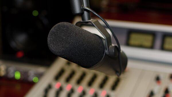 Работа радиостанции, архивное фото