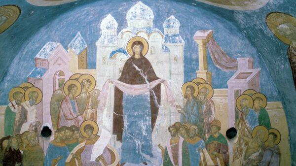 Фреска русского иконописца Дионисия Покров Богоматери