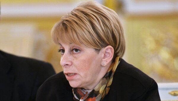 Глава фонда Справедливая помощь Елизавета Глинка на заседании Совета при президенте России по развитию гражданского общества и правам человека в Кремле