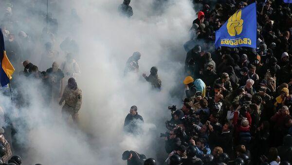 Митинг перед Верховной Радой Украины, в Киеве, 14 октября 2014