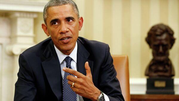 Президент США Барак Обама на совещании по координации борьбы с вирусом Эбола