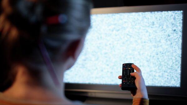 Помехи на телевидении. Архивное фото