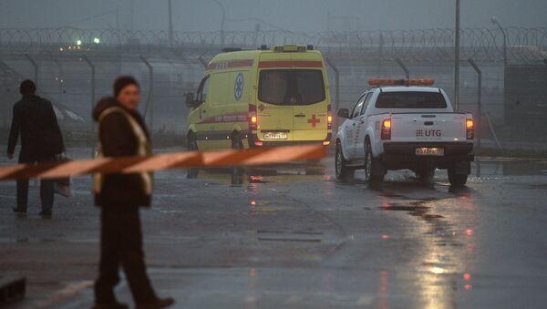 Крушение самолета Falcon во Внуково. Архивное фото