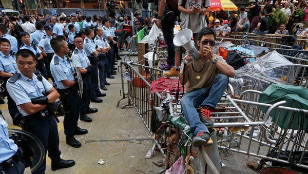 Демонстранты на улице Гонконга. Архивное фото