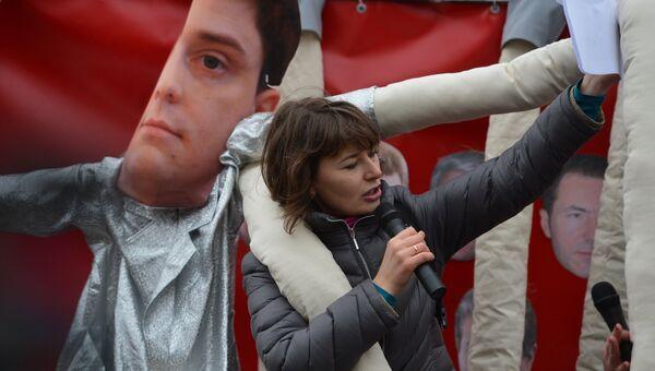 Акция Центра противодействия коррупции в Киеве, Украина. Архивное фото.