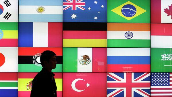 Флаги стран G20. Архивное фото