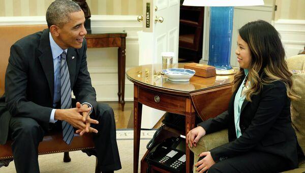 Обама встретился с медсестрой Ниной Фэм, излечившейся от Эболы