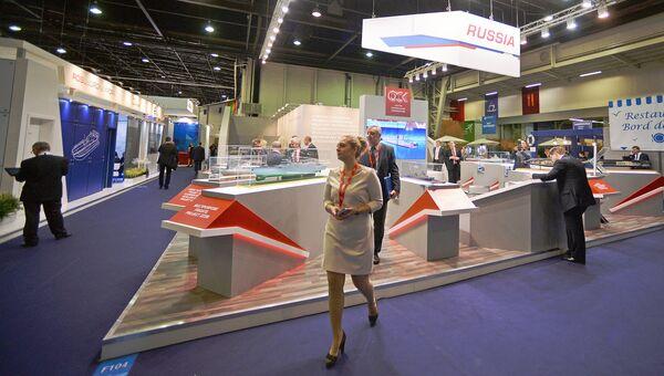 Стенд компании ОСК (объединенная судостроительная корпорация) на 24-й Международной выставке военно-морской техники и вооружения Euronaval 2014