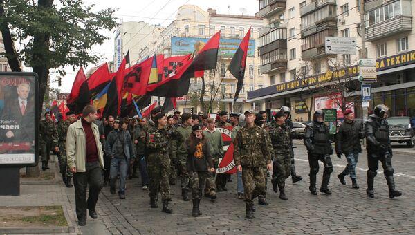 Активисты организации УНА-УНСО. Архивное фото