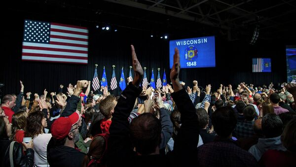 Республиканцы во время объявления результатов выборов в штате Висконсин