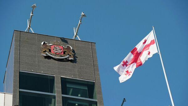 Флаг Грузии, архивное фото