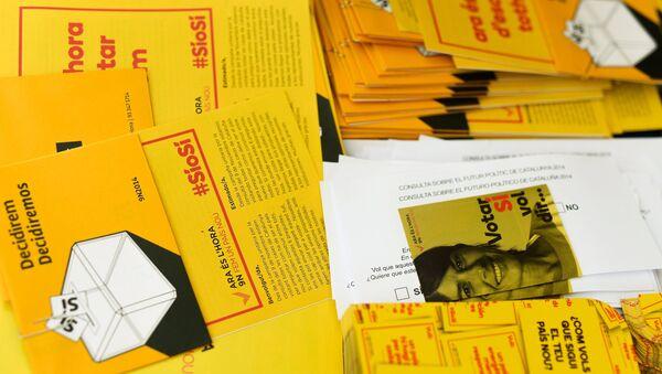 Подготовка к опросу о независимости Каталонии