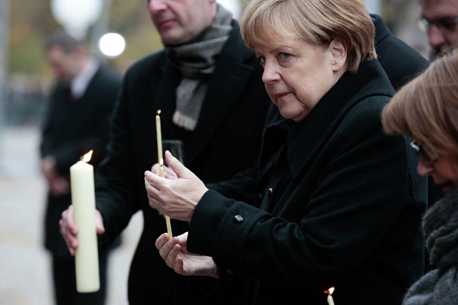 Канцлер Германии Ангела Меркель во время празднования 25-й годовщины падения Берлинской стены